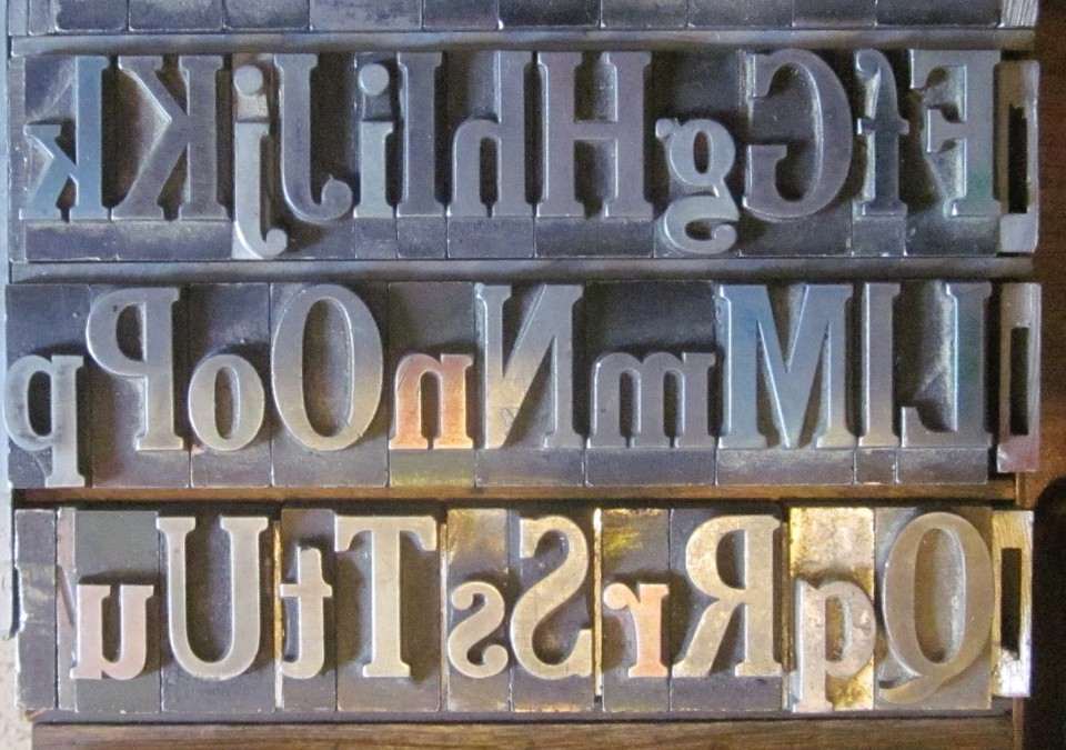 Starting to Use the Letterpress – 11.1.15 or 11.15.15 or 11.22.15