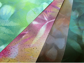 Studio Session – Spray-Painted Papers – 06.22.16